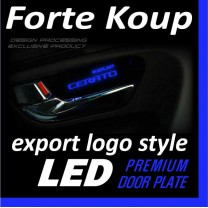 [DXSOAUTO] KIA Forte Koup - LED Premium Door Plate Set Export