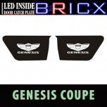 [BRICX] Hyundai Genesis Coupe - LED Inside Door Catch Plates Set
