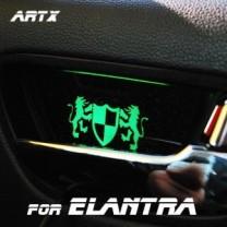 [ARTX] Hyundai Avante HD - Luxury Generation LED Inside Door Catch Plates Set