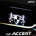 [ARTX] Hyundai New Accent - Luxury Generation LED Inside Door Catch Plates Set