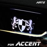 [ARTX] Hyundai New Accent - Luxury Generation LED Inside Door Catch Plates Set