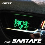 [ARTX] Hyundai Santa Fe DM - Luxury Generation LED Inside Door Catch Plates Set