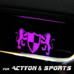 [ARTX] SsangYong Actyon / Actyon Sports - Luxury Generation LED Inside Door Catch Plates Set
