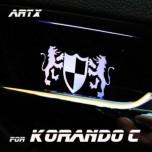 [ARTX] SsangYong Korando C - Luxury Generation LED Inside Door Catch Plates Set