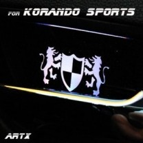 [ARTX] SsangYong Korando Sports - Luxury Generation LED Inside Door Catch Plates Set