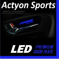 [DXSOAUTO] SsangYong Actyon Sports - LED Premium Door Plate Set