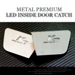 [CHANGE UP] KIA The New K7 - White Metal Premium LED Inside Door Catch Plates Set