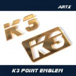 [ARTX] KIA K3 / New Cerato - Lettering Point Emblem K3 - No.49