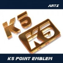 [ARTX] KIA K5 / New Optima - Lettering Point Emblem K5 - No.39