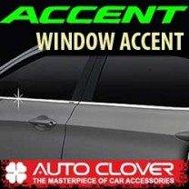 [AUTO CLOVER] Hyundai New Accent - Window Accent Chrome Molding Set (B230)