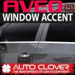 [AUTO CLOVER] Chevrolet Aveo Hatchback - Window Accent Chrome Molding Set (B232)