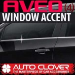 [AUTO CLOVER] Chevrolet Aveo - Window Accent Chrome Molding Set (B234)