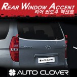 [AUTO CLOVER] Hyundai Grand Starex - Rear Window Accent Chrome Molding Set (C180)