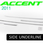 [KYOUNG DONG] Hyundai New Accent - Chrome Side Under Line Molding (D-035)