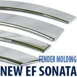 [AUTO CLOVER] Hyundai New EF Sonata - Fender Chrome Molding Set (A345)