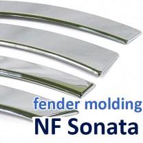 [AUTO CLOVER] Hyundai NF Sonata Transform - Fender Chrome Molding (A546)