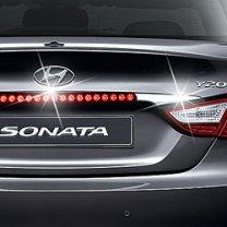 [MOTOPIA] Hyundai YF Sonata  - 3rd brake LED Chrome Rear Garnish Molding Set