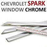 [AUTO CLOVER] Chevrolet Spark  - Window Chrome Molding Set (C110)