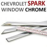 [AUTO CLOVER] Chevrolet Spark  - Window Chrome Molding Set (C110)