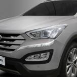 [AUTO CLOVER] Hyundai Santa Fe DM - Front & Rear Bumper Chrome Molding Set (C336)