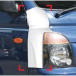 [AUTO CLOVER] Hyundai Porter II - Front Bumper Chrome Molding (C346)