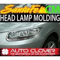 [AUTO CLOVER] Hyundai Santa Fe CM / The Style - Head Lamp Chrome Molding Set (A361)