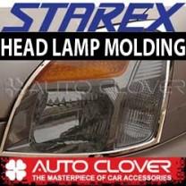[AUTO CLOVER] Hyundai Starex ('04) - Head Lamp Chrome Molding Set (A386)