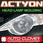 [AUTO CLOVER] SsangYong Actyon / Actyon Sports - Head Lamp Chrome Molding Set (A765)