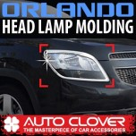 [AUTO CLOVER] Chevrolet Orlando - Head Lamp Chrome Molding Set (C402)