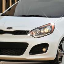 [AUTO CLOVER] KIA All New Pride Hatchback - Head Lamp Chrome Molding Set (C418)