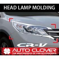 [AUTO CLOVER] Honda CR-V - Head Lamp Chrome Molding (C464)