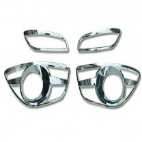 [AUTO CLOVER] Hyundai Santa Fe The Style - Fog Lamp Chrome Molding Set (B663)
