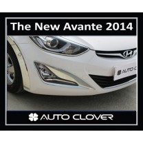 [AUTO CLOVER] Hyundai The New Avante MD - Fog Lamp and Rear Reflector Chrome Molding Set (C498)