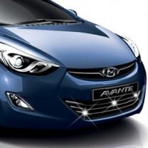 [AUTO CLOVER] Hyundai Avante MD - Radiator Grill Cener Chrome Molding Set (B226)