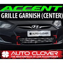 [AUTO CLOVER] Hyundai New Accent - Radiator Grill Center Chrome Molding (C743)