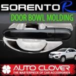[AUTO CLOVER] KIA Sorento R - Door Bowl Chrome Molding Set (C314)