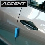 [ARTX] Hyundai New Accent - Carbon Skin Door Catch Molding Set
