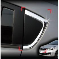 [AUTO CLOVER] KIA All New Pride - C Pillar Chrome Molding Set (B923)
