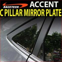 [RACETECH] Hyundai New Accent - Glass C Pillar Mirror Plate Set