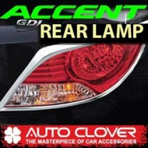 [AUTO CLOVER] Hyundai New Accent - Rear Lamp Chrome Molding Set (B724)
