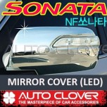 [AUTO CLOVER] Hyundai NF Sonata Transform - Side Mirror Chrome Molding Set (A794) - LED Type