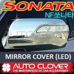 [AUTO CLOVER] Hyundai NF Sonata Transform - Side Mirror Chrome Molding Set (A794) - LED Type