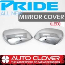 [AUTO CLOVER] KIA All New Pride (4Dr/5Dr) - Side Mirror Chrome Molding Set (C420) - LED Type