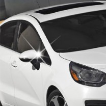 [AUTO CLOVER] KIA All New Pride (4Dr/5Dr) - Side Mirror Chrome Molding Set (C421) - Normal Type