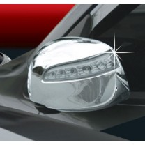 [AUTO CLOVER] Hyundai YF Sonata - Side Mirror Chrome Molding Set (C431) - LED Type