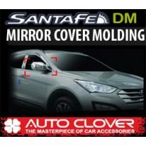[AUTO CLOVER] Hyundai Santa Fe DM - Side Mirror Chrome Molding Set (C446) - LED Type