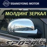 [SSANGYONG] SsangYong Korando C/Sports - Side Mirror Chrome Molding Set