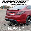 [MYRIDE] Hyundai New Accent - Rear Lip