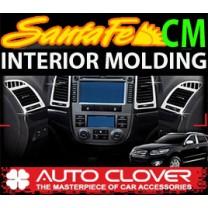 [AUTO CLOVER] Hyundai Santa Fe CM - Interior Chrome Molding Kit (C371)