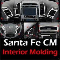 [AUTO CLOVER] Hyundai Santa Fe The Style - Interior Chrome Molding Kit (C372)